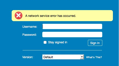 Solved Zimbra Web Client A Network Service Error has Occured