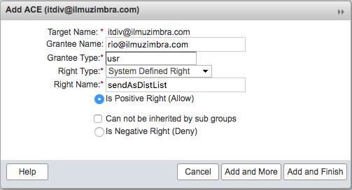 Memberikan Hak Akses Mengirim Sebagai Distribution List